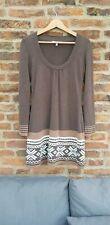 🍫🍫 LAURA ASHLEY Cashmere Angora Mix Knitted Chocolate Brown Tunic Dress Uk8