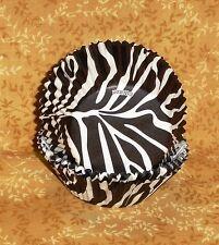 Zebra Stripe Standard Cupcake Papers,Wilton,Black,White,415-1881,Bake Cup,Safari