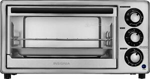 Insignia- 4-Slice Toaster Oven - Stainless Steel