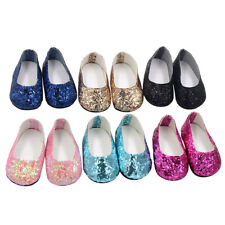 6Pairs Modern Doll Shoes Sparkle Sequined Shoe For 18 inch American Girl Doll
