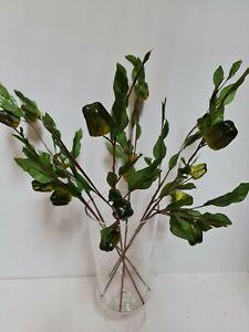 3 X green Artificial Capsicum Stems, Fake Flower,fruit, leaves, stems home decor