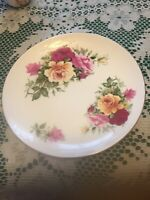 "SPRINGFIELD BONE CHINA ENGLAND FLORAL PLATE w/ GOLD TRIM 7 1/2""   Roses"