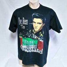 VTG 80s Elvis Presley Graceland T Shirt 50/50 Concert Rock Music Tee RIP Tour XL
