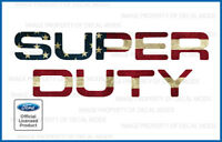 2008 - 2016 F250 Super Duty TAILGATE Letters Decals Stickers AMERICAN FLAG WORN