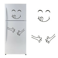 1X Cute Face Sticker Fridge Happy Delicious Kitchen Fridge Wall Stickers Art