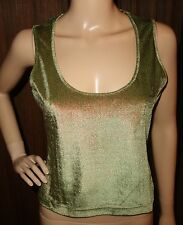 VERSACE JEANS COUTURE Olive Green SPARKLING Top SZ XS NEW