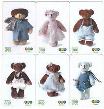 Thaïlande - GSM Prepaid Cards - 6 Petites Cartes Teddy Bear - Usagée/Used