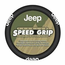 New Jeep Factory Logo Primium Speed Grip Car Truck SUV Steering Wheel Cover