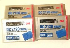 4 IMATION 3M DC 2120 Mini Cartridge QIC 80 MC Back Up Tape NEW SEALED 120-240 MB
