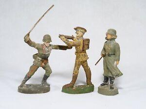 Lineol Elastolin D Bundle 3 Soldiers Germans 1939 Various Material Composite