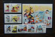Grenada 1984 Disney Olympic Games Los Angeles set & Miniature Sheet Used