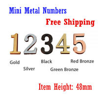 Mini Metal Numbers with Self-stick for Address Plaque ( Height: 48mm)