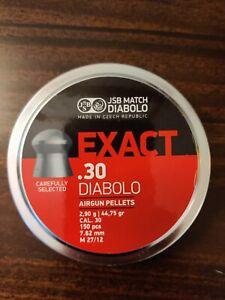 JSB EXACT DIABOLO .30 cal  44.75gr  150 ct NEW.