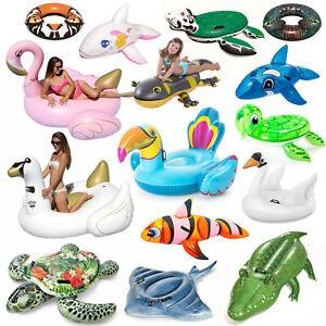 Schwimmtiere zur Auswahl Aufblasbar XXL Luftmatratze Pool Badetier Aufblastier