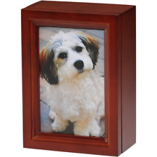 BIRCH WOOD PHOTO FRAME PET URN - 2ND QUALITY - FREE SHIPPING U.S.A. - B14-CHERRY