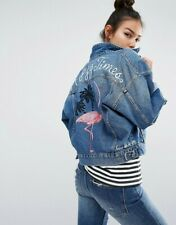 new ladies beautiful embroidery denim jacket