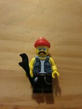 Lego Minifigures - Series 10 - Bike Mechanic - Lego mini figure with base
