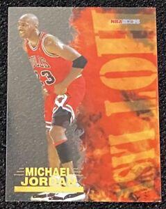 1996-97 MICHAEL JORDAN HOT LIST ULTRA RARE SP INSERT HOOPS ACETATE # 8 OF 20 !