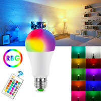 RGB RGBW E27 LED Bulb Light Color Changing Dimmable With IR Remote Controller