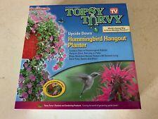 Topsy Turvy Upside Down Hummingbird Hangout Planter Feeder