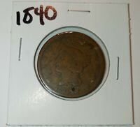 1840 Braided Hair Large Cent