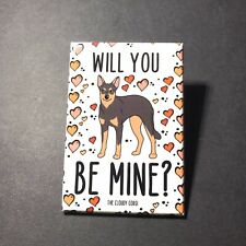 Australian Kelpie Dog Magnet Handmade Valentines Day Gifts and Holiday Decor