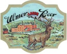 Ulmer Lager Strong Beer Label