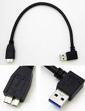 micro USB 3.0 tipo da a B sinistro angolo hard disk hdd cavo 25cm (destro lato)