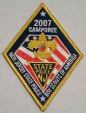 """NJSP New Jersey State Police 2007 Camporee Boy Scouts of America 2.75"""" Patch"""