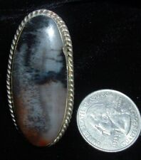 OLD,  HUGE, PETRIFIED WOOD RING, STERLING SILVER, SIZE 5... 2 INCH STONE!