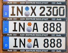 AUDI dealer frame + German license plate from Ingolstadt home of AUDI Lana  sc 1 st  eBay & Audi Vanity Plate ws/Frames License Plate Frames | eBay