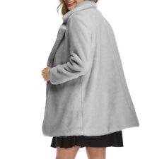 New Women Faux Fur Rabbit Warm Thicken Coat Soft Outwear Jacket Snow Parka Party