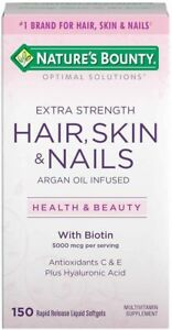 Nature's Bounty Extra Strength Optimal Solutions Hair, Skin & Nails 150 Softgels