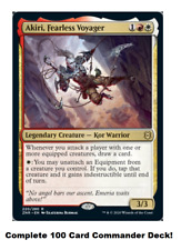 Akiri, Fearless Voyager Commander Deck EDH 100 Magic Cards Custom Deck MTG equip