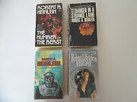 Lot of Four Science Fiction Paperbacks by Robert A. Heinlein