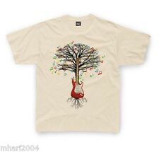 Electric Guitar T-shirt Guitarist Musical Tree in Kids sizes up to 12/13yrs