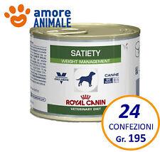24 confezioni Royal Canin Satiety 195 gr Lattina-Barattolo - Alimento umido cani
