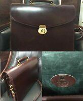 PAPWORTH Business Bag Briefcase England Brown Dulles Shoulder Strap