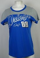 Nascar Hands High Women's #88 Dale Jr. Blue/Foil Short Sleeve T Shirt NASCAR M