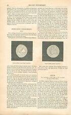 Observation Astronomique Planète Mars/ Jean-Baptiste Greuze GRAVURE PRINT 1863
