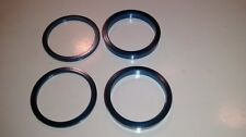 """Blue 4 pieces Bicycle Headset Spacer 1 1/8"""" diameter total stack height 1/2"""""""