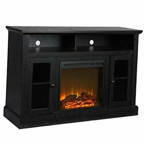 """Chicago Fireplace TV Stand for TVs up to 50"""", Black"""