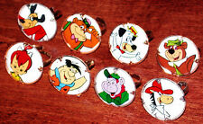 Vintage 1960's Hanna-Barbera 8 Tin CARTOON Character Ring Set OLD STORE STOCK !