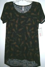 NEW! LuLaRoe CAT PRINT on BLACK Background ~ CLASSIC T ~ SMALL / Bust to 34""