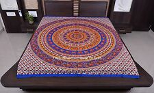 Indian Handmade Elephant Mandala Bed Cover Ethnic Hippie Wall Hanging Tapestry