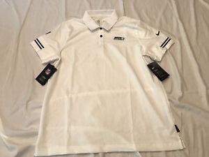 NWT Nike Seattle Seahawks On Field Polo Shirt White Women's Sz. Large CJ9879-100
