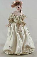 Vintage Florence Ceramics California Porcelain Musette Southern Belle Figurine