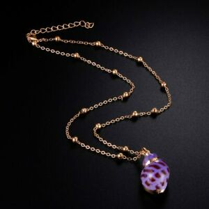 Shell Necklace Pendant Rumpfschale Chain Sea Real Shells Violet Gold