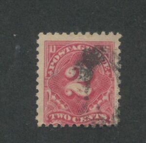 1916 US Postage Due Stamp #J60 Used Average Partial Postal Cancel
