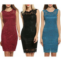 Women Summer Casual Bandage Bodycon Evening Party Cocktail Lace Short Mini Dress
